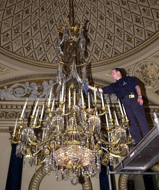 Royal prepartion chandelier pictures getty images royal prepartion chandelier mozeypictures Image collections