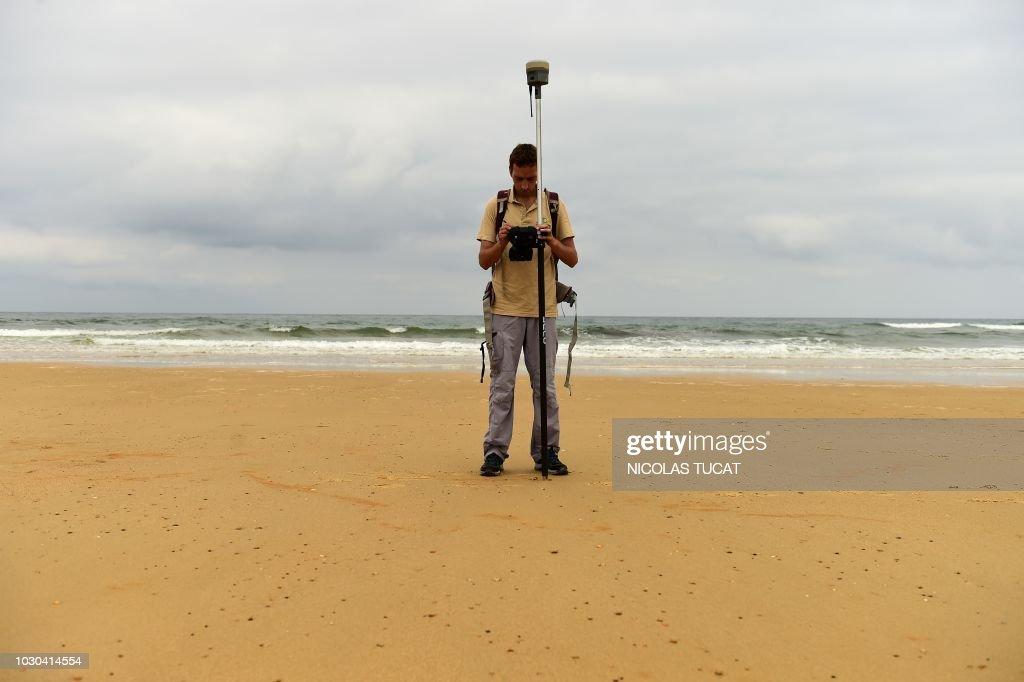 A technician of the brgm bureau de recherches geologiques et