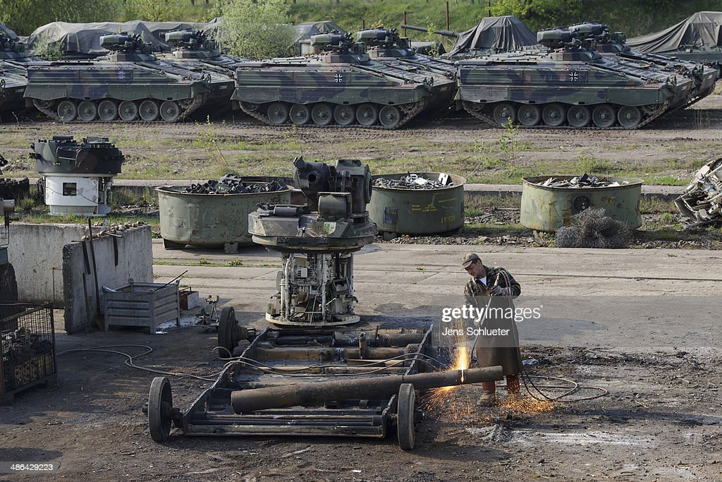 German Company Dismantles Europe's Excess Military Hardware : News Photo