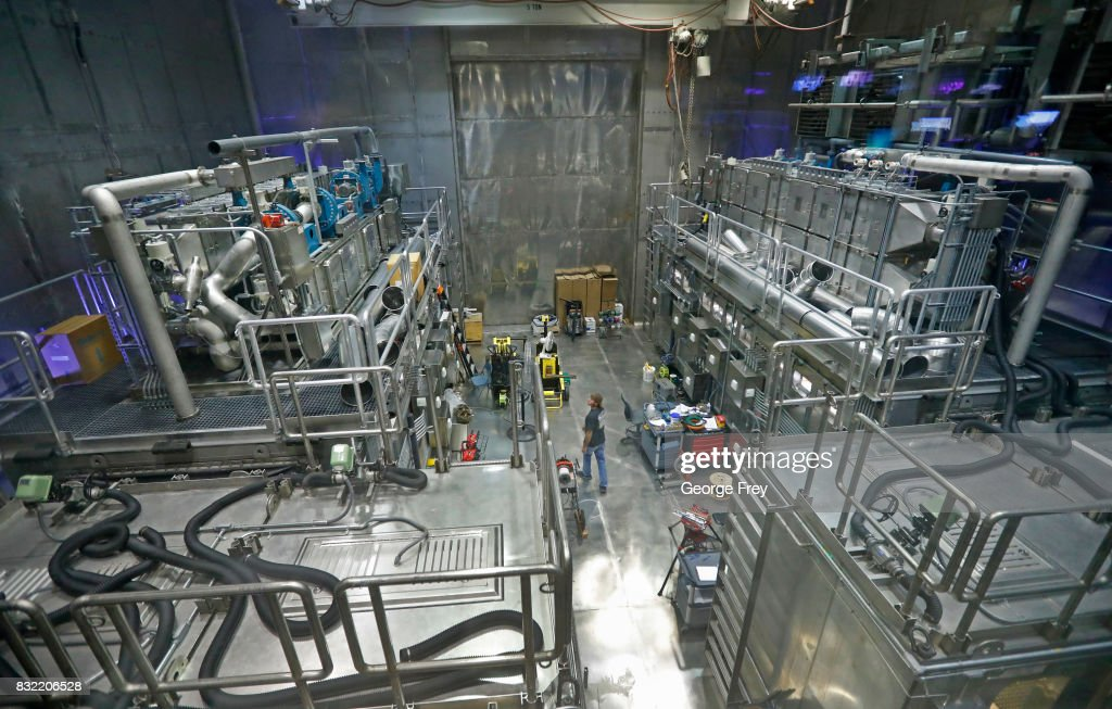 A technician walks between two secondary containment modules that are being assembled for future chemical testing at the Material Test Facility, at the U.S. Army's Dugway Proving Ground on August 15, 2017 in Dugway, Utah. Workers at this facility handle some of the most deadly and dangerous biological and chemical agents on earth. The 800,000-acre base in the middle of the Utah desert is a top secret facility that tests and develops defensive measures to counter the effects of biological and chemical agents that may be used against the United States.