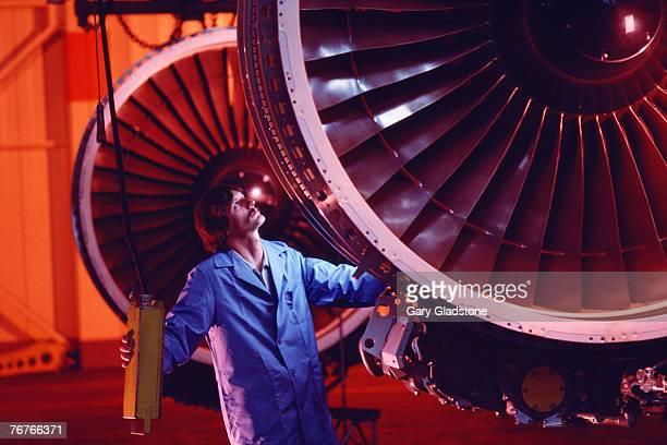 Technician/engineer at jet engine plant
