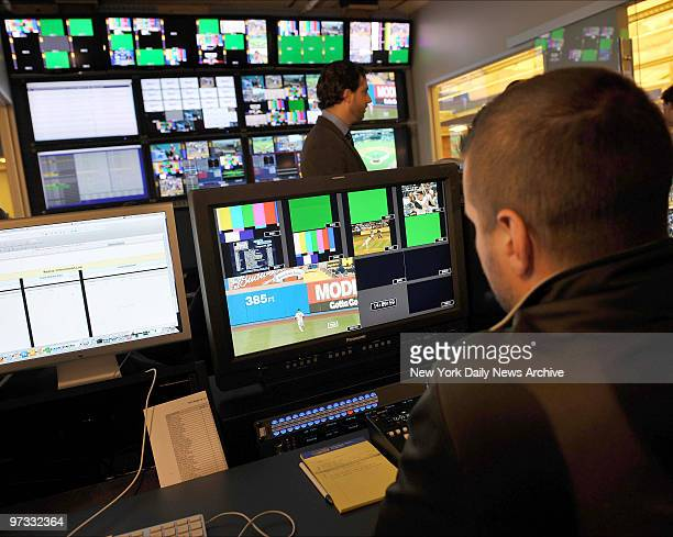 Technicians work in the Network Operation Center at Major League Baseball's headquarters at 75 9th Avenue in Manhattan where executives gave a...