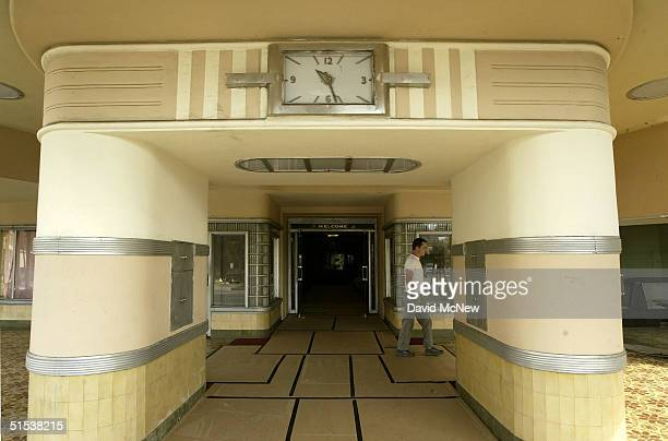 A technicians working the the set of the movie Domino walks past the entrance of the Ambassador Hotel best know as the site where Robert F Kennedy...