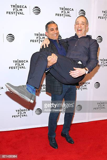 Technicolor CEO producer Frederic Rose and Bassem Youssef attend Tickling Giants Premiere 2016 Tribeca Film Festival at Chelsea Bow Tie Cinemas on...