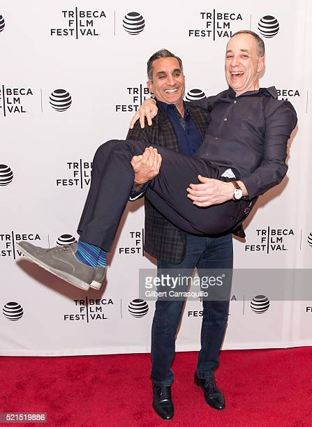 Technicolor CEO producer Frederic Rose and Bassem Youssef attend 'Tickling Giants' Premiere during 2016 Tribeca Film Festival at Chelsea Bow Tie...