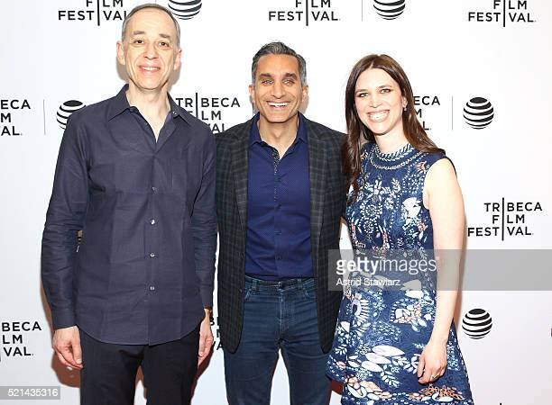 Technicolor CEO producer Frederic Rose Bassem Youssef and director Sara Taksler attend Tickling Giants Premiere 2016 Tribeca Film Festival at Chelsea...