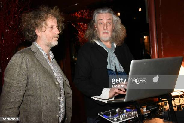 Technikart magazine publisher Fabrice de Rohan Chabot and DJ Jean Croc attend Technikart Party at Les Bains Paris Club on December 6 2017 in Paris...