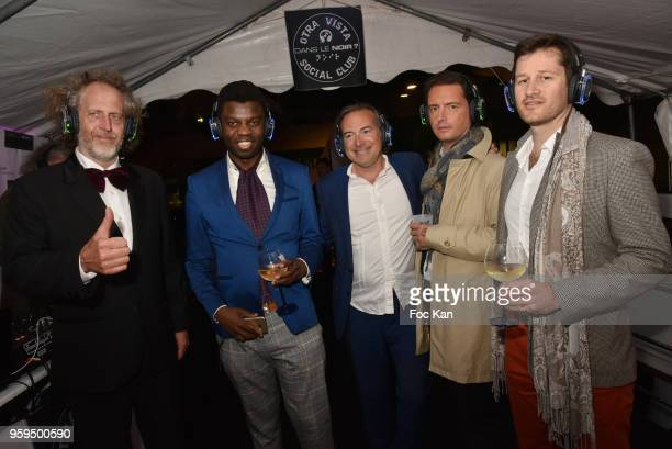 Technikart publisher Fabrice de Rohan Chabot, Jean Barthelemy Bokassa, Eric Bonnet and guests attend 'The Technikart Silent Party' A deaf and dumb...