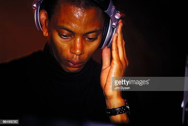 Techno DJ Jeff Mills performs at the Westfalenhallen during the '10 in 01' Mayday Festival on May 1 2001 in Dortmund Germany