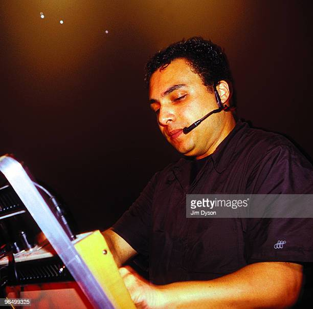 Techno producer Anthony Rother performs at the Westfalenhallen during the '10 in 01' Mayday Festival on May 1 2001 in Dortmund Germany