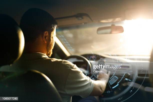 technologic virtual intelligence car - cycle vehicle stock pictures, royalty-free photos & images
