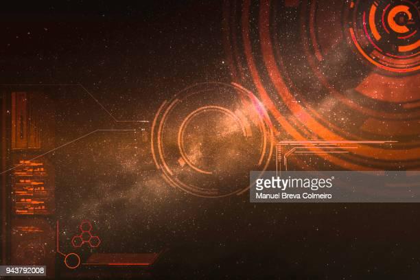 technological background - interfaz gráfica de usuario fotografías e imágenes de stock