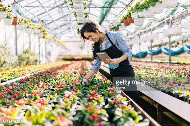 Technologie en bloemen