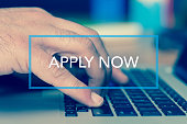 Technology Concept: APPLY NOW