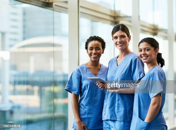 technology facilitates our day-to-day duties - nurses stock pictures, royalty-free photos & images