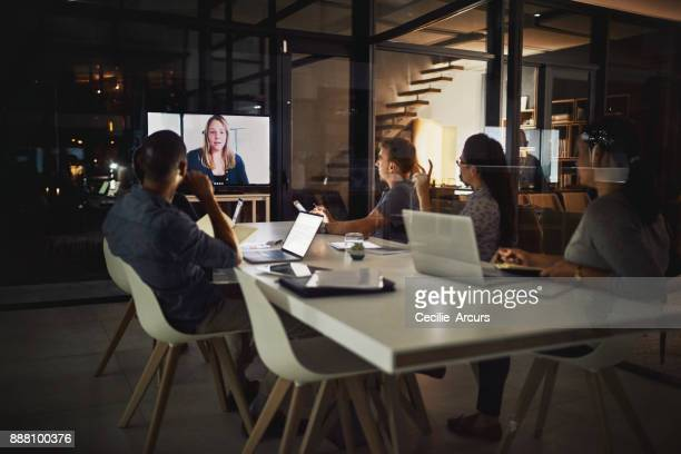 technology has made it possible to have our meetings anywhere - video conference stock pictures, royalty-free photos & images