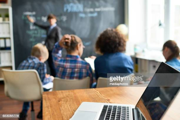 technology in education - teen russia stock photos and pictures