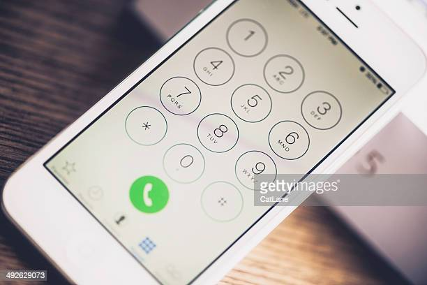 Technology: iPhone5 Showing Dial Number Screen