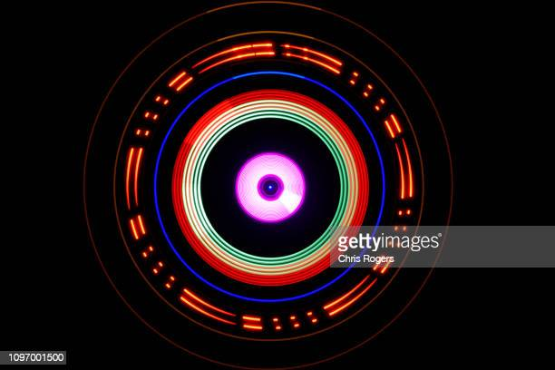 technology - lights - orbiting stockfoto's en -beelden
