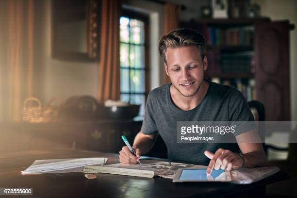 technology makes homework a breeze - males stock pictures, royalty-free photos & images