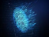 Technology of digital fingerprint scanning.