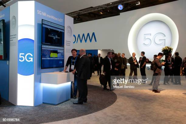 Technology pictured at the Quantumm stand during the Mobile World Congress the world's biggest mobile fair on February 27 2018 in Barcelona The...