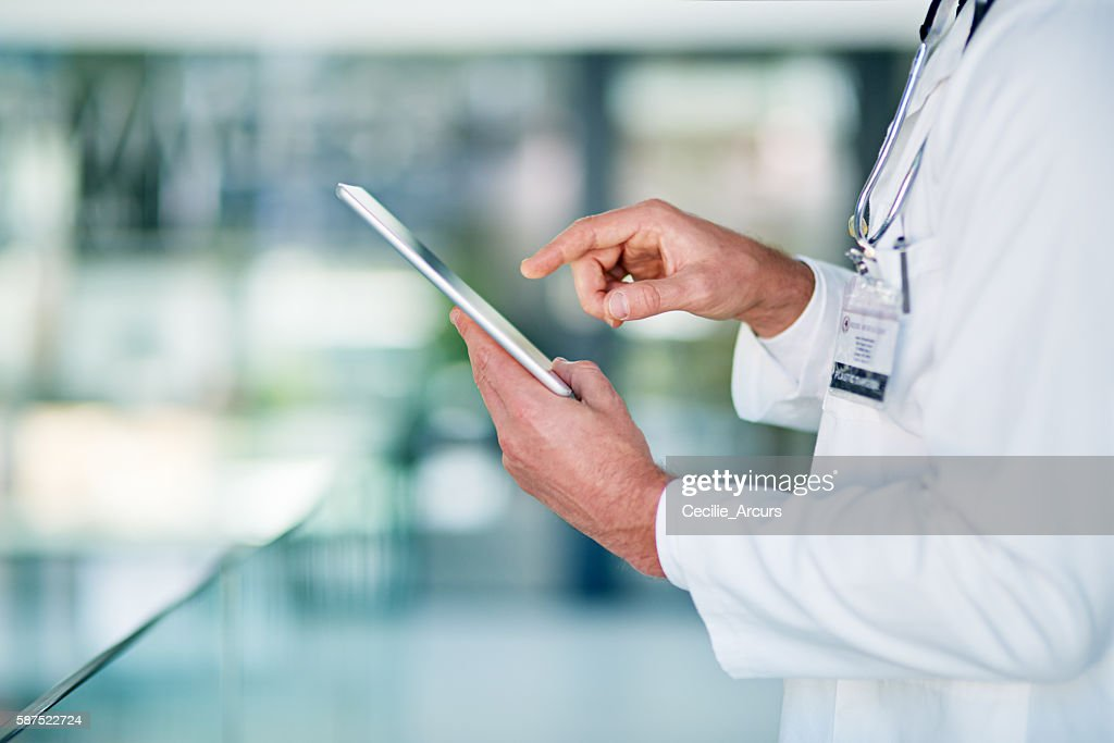 Technology plays an important role in every industry : Stock Photo