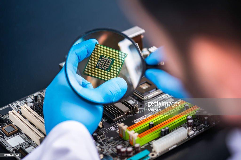 Technology Researching : Stock Photo