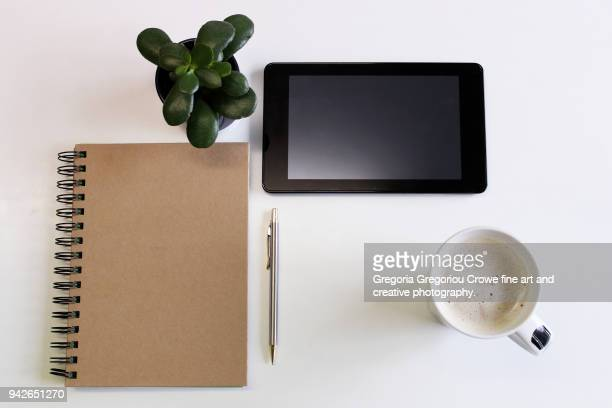 technology - tablet and notepad - gregoria gregoriou crowe fine art and creative photography. stock pictures, royalty-free photos & images