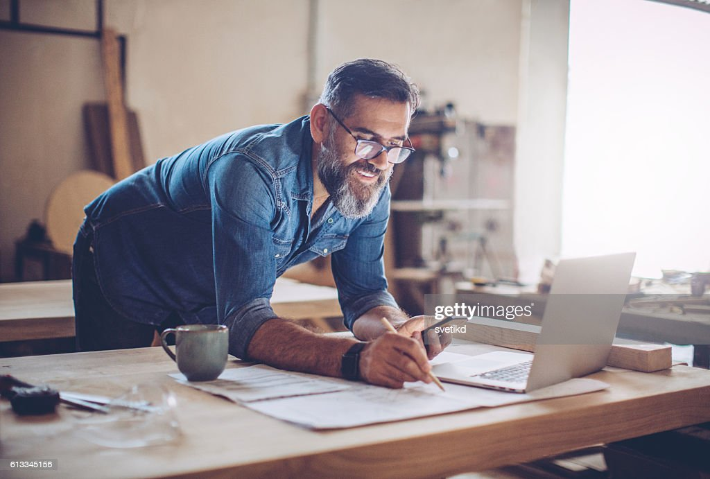 Technology was a huge help in this business : Stock Photo