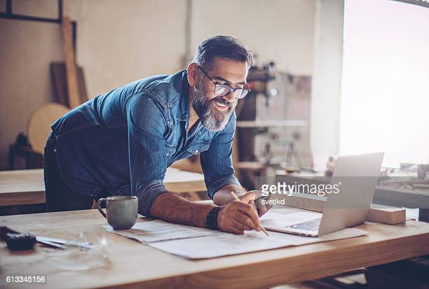technology was a huge help in this business - craftsman stock photos and pictures