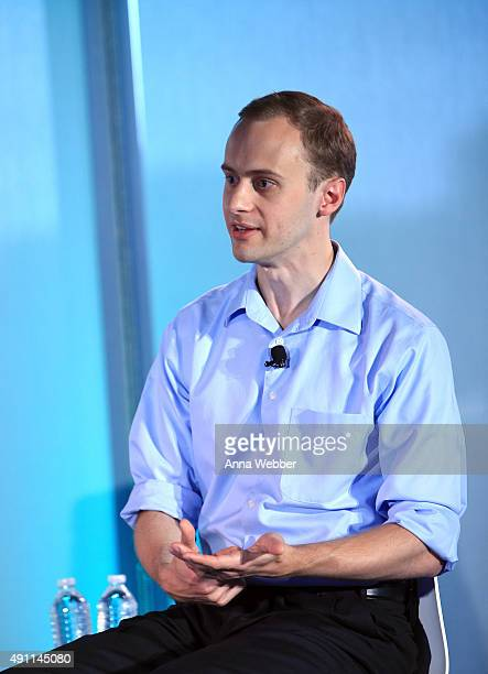 Technologydevelopment fellow at the Wyss Institute at Harvard University Kevin Esvelt speaks on stage during The New Yorker Festival 2015 Tech@Fest...