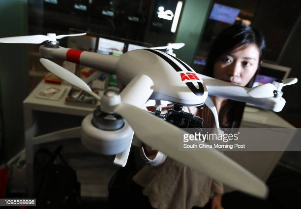 AEE Technology's new drone model AP11 which will be launched in May at an expected price of USD800 Pictured at the press conference of Lighting and...
