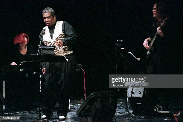 'Technophobe and the Madman' at New York University's Frederick Loewe Theatre on February 1 2001This imageFrom left Kathleen Supove on keyboards...