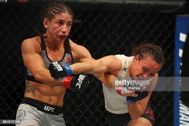 Tecia Torres battles Michelle Waterson during UFC 218 at Little Ceasars Arena on December 2 2018 in Detroit Michigan
