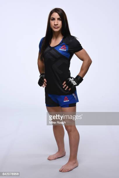 Tecia Torres poses for a portrait during a UFC photo session at the Sheraton North Houston at George Bush Intercontinental on February 1 2017 in...