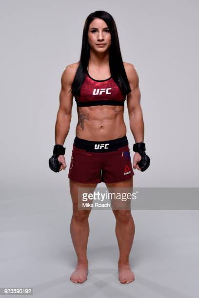 Tecia Torres poses for a portrait during a UFC photo session on February 22 2018 in Orlando Florida