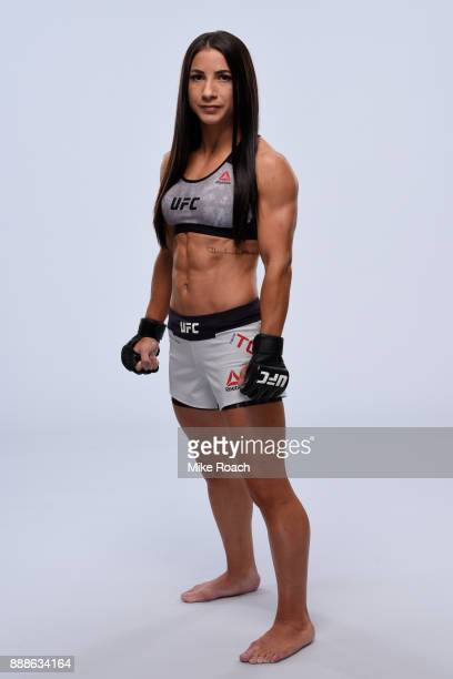 Tecia Torres poses for a portrait during a UFC photo session on November 29 2017 in Detroit Michigan