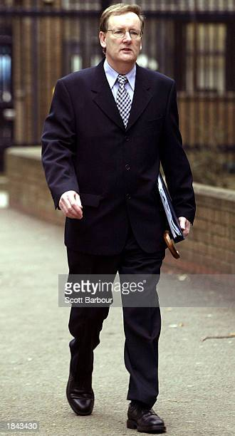 Tecwen Whittock arrives at Southwark Crown Court March 12, 2003 in London, United Kingdom. Charles Ingram has been charged with deception and...