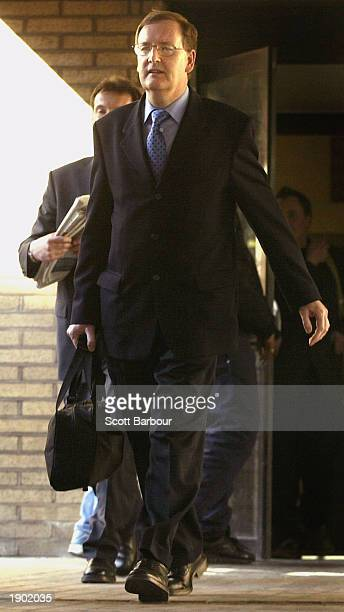 Tecwen Whittock leaves Southwark Crown Court April 7, 2003 in London, England. Charles Ingram, his wife Diana and business lecturer Whittock walked...