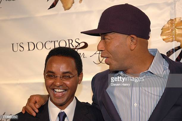 Ted Alemayhu and Russell Simmons attend the 1st Annual US Doctors For Africa New York Gala Benefit at Cipriani Wall Street on October 17 2007 in New...