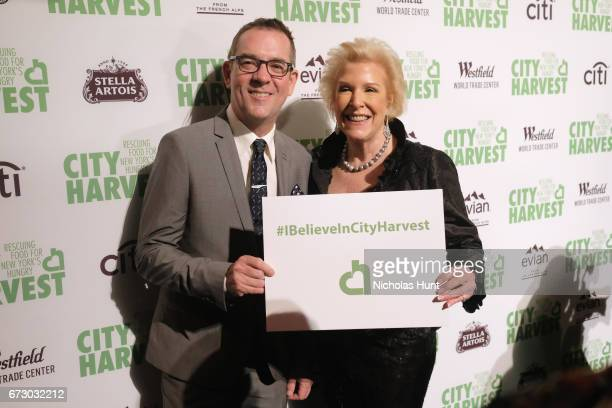 Ted Allen and Sharon Jacquet attends the City Harvest's 23rd Annual Evening Of Practical Magic at Cipriani 42nd Street on April 25 2017 in New York...