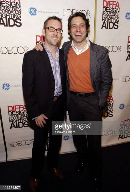 Ted Allen and Thom Filicia during The 8th Annual Elle Decor Dining by Design Benefiting the Design Industries Foundation Fighting AIDS at Hammerstein...
