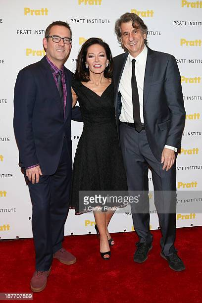 Ted Allen, Margaret Russell and David Rockwell attend Annual Pratt Institute gala at Mandarin Oriental Hotel on November 11, 2013 in New York City.