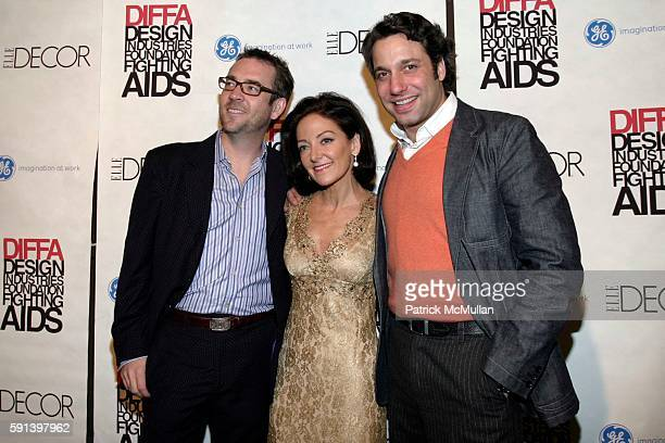 Ted Allen Margaret Russell and Thom Filicia attend The 8th Annual Elle Decor Dining By Design Cocktail Party and Dinner Benefiting DIFFA at The...