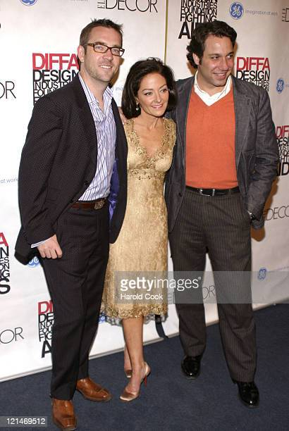 """Ted Allen, Margaret Russell and Thom Filicia during The Eighth Annual Elle Decor's """"Dining by Design"""" at Hammerstein Ballroom in New York City, New..."""