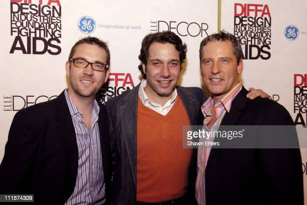Ted Allen, Thom Filicia and Doug Wilson during The 8th Annual Elle Decor Dining by Design Benefiting the Design Industries Foundation Fighting AIDS...
