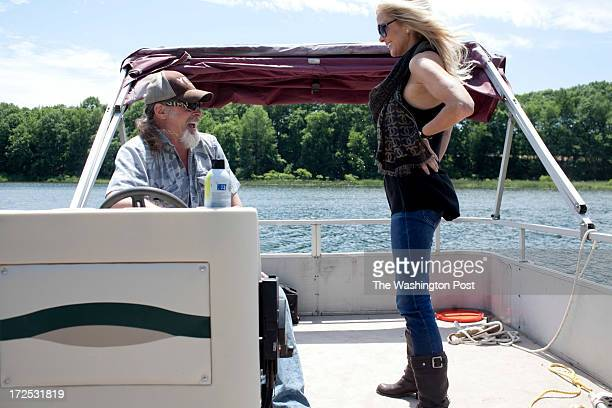 Ted and his wife Shemane Nugent go for a boat ride on their 1200 acre ranch in Concord Michigan on June 6 2013 Ted said when he was younger he spent...