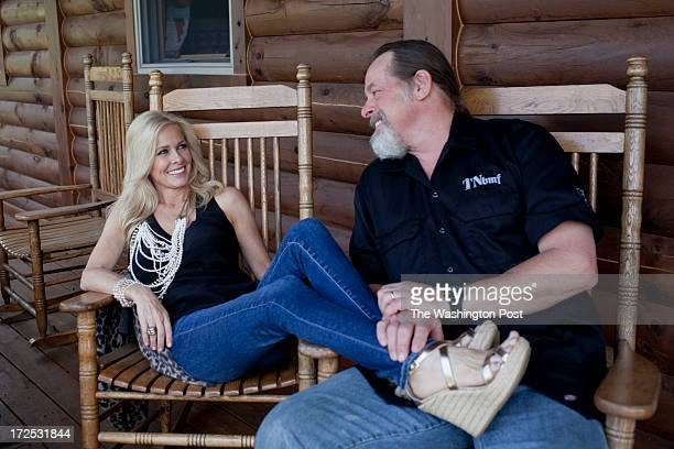 Ted and his wife Shemane Nugent play with the dogs on their 1200 acre ranch in Concord Michigan on June 6 2013 Ted said when he was younger he spent...