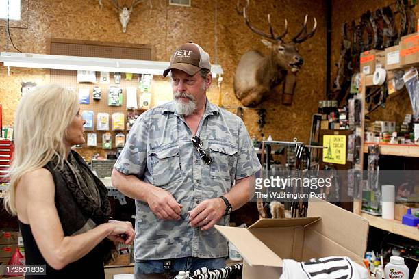Ted and his wife Shemane Nugent reload ammunition on their 1200 acre ranch in Concord Michigan on June 6 2013 Ted said when he was younger he spent...